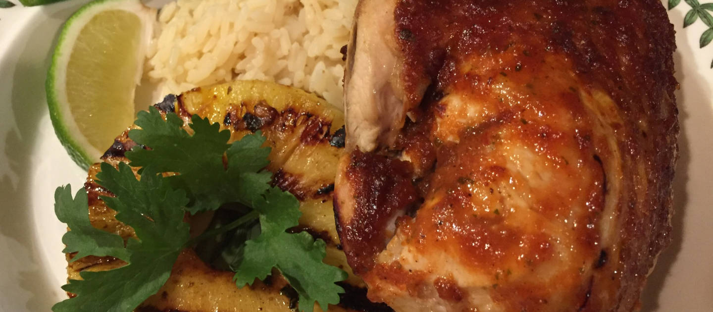 Chicken Breast with Grilled Pineapple & Chipotle Barbecue Sauce
